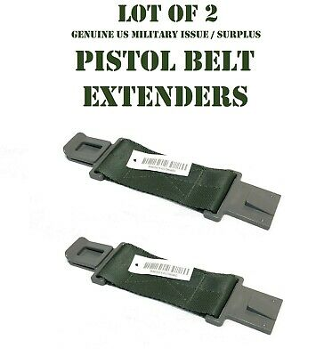 "LOT of 2 NEW US MILITARY LBV LBE LCE ALICE WEB PISTOL BELT EXTENDER 6"" GRAY CLIP"