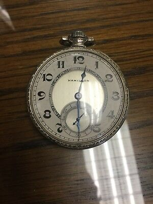 17 Jewels 14k Gf Hamilton Pocket Watch