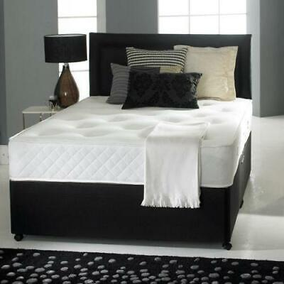 Luxury Memory Foam Divan Bed Set With Mattress and Headboard - Free Delivery
