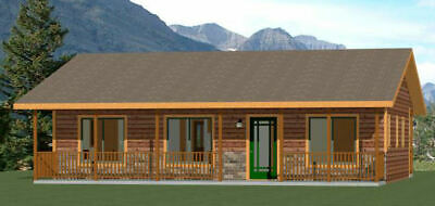 36x24 House -- 2 Bedroom 2 Bath -- 812 sq ft -- PDF Floor Plan -- Model 7A
