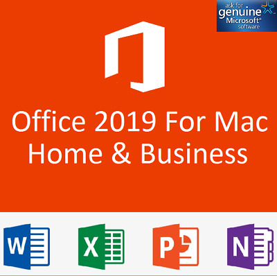 MS Office 2019 Home & Business For Mac - 2 PC