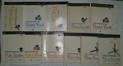 The Alfred d'Auberge Piano Course lot 11 recital  note speller book 1 2 3 4 5 6