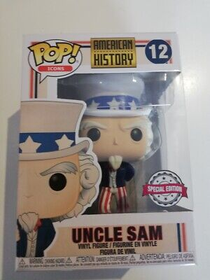 Funko POP !  Uncle Sam - Zio SAM #12 History Icons -  IN STOCK NOW!!!