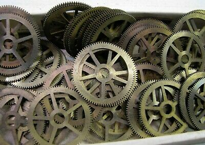 Lot Vintage Elgin 600 Ships Chronometer Clock Winding Wheel Gear Movement Parts