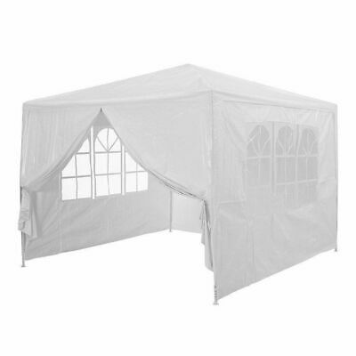3x3m Gazebo White Outdoor PE Garden Gazebo Marquee Canopy Party Tent Waterproof
