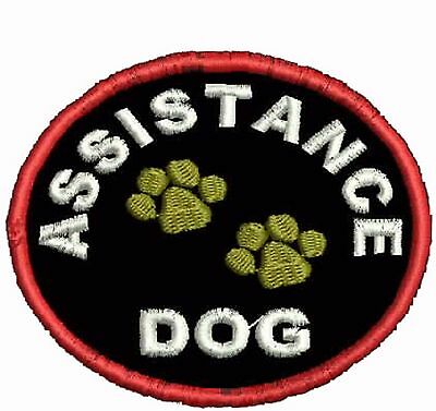 Assistance Service Dog Patch,  Round Shaped harness Patches, ESA Patches, SD