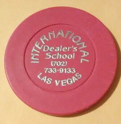 1980s INTERNATIONAL DEALING SCHOOL LAS VEGAS $5.00 CHIP GREAT FOR COLLECTION!