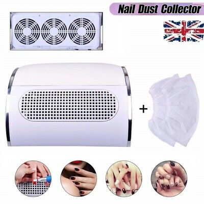 40W Nail Dust Collector 3 Fans Nail Vacuum Cleaner Manicure Suction Collecting