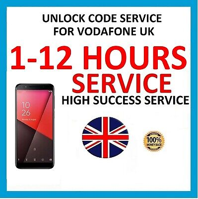 Unlock code For Vodafone UK Smart V10 N9 VFD 620 720 730 V620 V720 V730