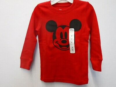 Boys 2T Jumping Beans Disney Red Mickey Mouse Long Sleeve Tshirt New #15746