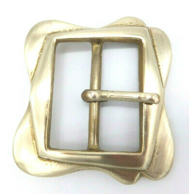 """CAST SOLID BRASS HEAVY 2"""" or 50 mm RE ENACTMENT BUCKLE 782"""