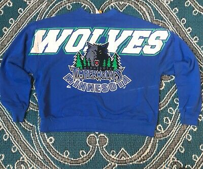 Vintage 1990s Minnesota Timberwolves Pure Magic All Over Print Sweatshirt 3XL