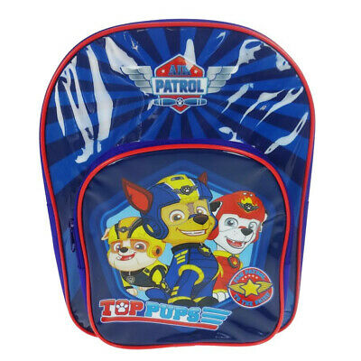 Paw Patrol Top Pups Arch Backpack With Pocket Blue School Bag 9 Litres