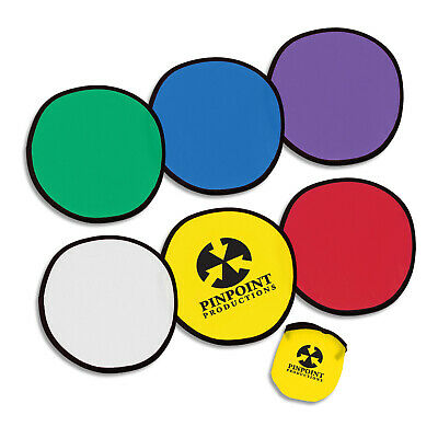 250 x Flying Disc with Pouch/Leisure Bulk Gifts Promotion Business Merchandise