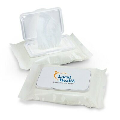 100 x Wet Wipes Personal/Amenities Bulk Gifts Promotion Business Merchandise