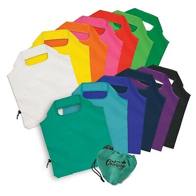 100 x Ergo Fold-Away Bag/Shopping Bags Bulk Gifts Promotion Business Merchandise