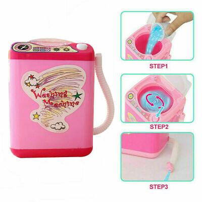 Mini Electric Washing Machine Cosmetic Sponge Makeup Brushes Cleaner Toy Z5N6R