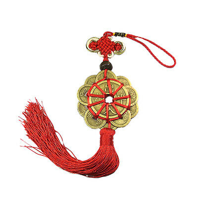 Feng Shui Mystic Knot 10 Chinese Lucky Coins Cures Home Career Health Wealth JCA