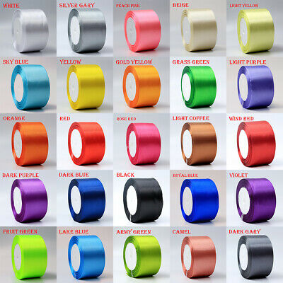 22meter Full Reel 50mm Satin Ribbon High quality Roll Scrapbooking Craft 25yards