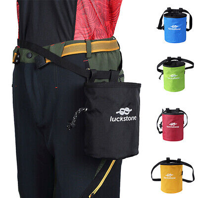 Rock Climbing Gym training Waist Belt Chalk Bag Magnesium Powder Storage Bag