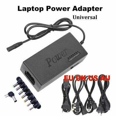 Universal For Laptop PC In-Car DC Charger Notebook AC Adapter Power Supply 96W