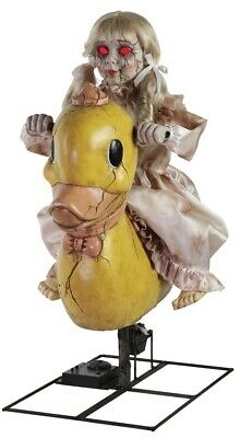 Rocking Ducky Doll Animated Prop Halloween Playground Decoration Cracked