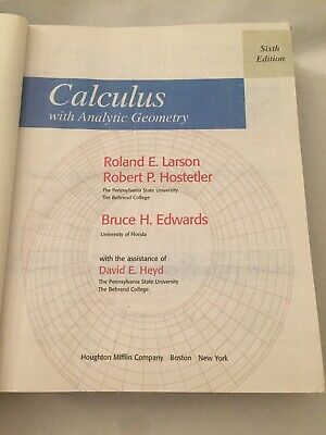 CALCULUS WITH ANALYTIC Geometry Alternate Edition By Earl