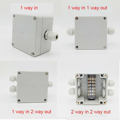 IP67 Waterproof Weatherproof Junction Box Plastic Electric Enclosure Case ABS UK
