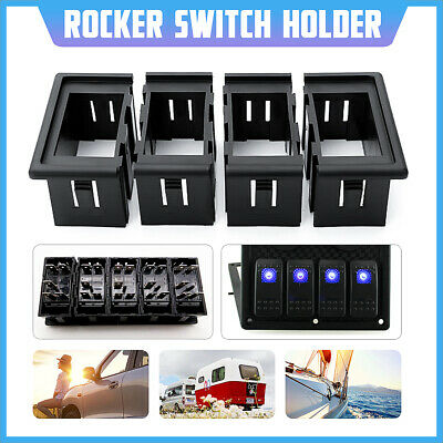 4 Gang Rocker Switch Clip Panel Holder Housing Black For ARB Carling Style AU