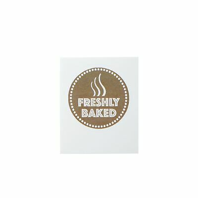 Freshly Baked Brown Round Sticker For Baking Cooking Food Packaging