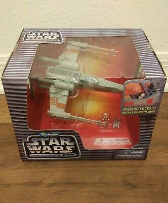 🛒 1995 Star Wars Micro Machines Action Fleet Luke's X-Wing Fighter NIB  Galoob