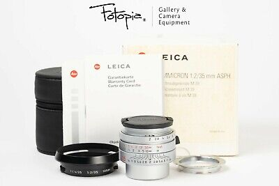 Leica Summicron 35mm F2 ASPH LTM - Silver / Japan Limited - 11608 with adapter