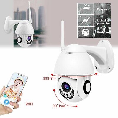 Wireless 1080P WIFI IP Camera Auto Tracking Outdoor HD Home Security IR Cam WR