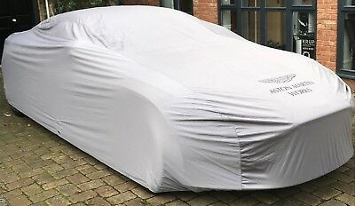 Aston Martin Works Standard Ultimate Outdoor Car Cover - Grey with Black Logos M
