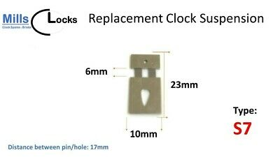 10x Replacement Rimmed French Clock Bushes, Clock Repair, Bushing (BS4)