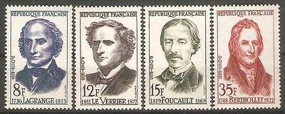 France - 1958 French Scientists Sg1371/4 MNH ( Cat.£9.25p )