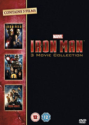 Iron Man 1-3 Complete Collection [DVD] UK Region 2 (Box Set) [DVD] new/sealed