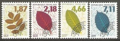France - 1996 Leaves of Trees Sg3321/4 MNH ( Cat.£11.50p )