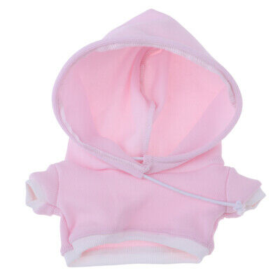 20cm Doll Clothes Hooded Hoodie Top for Bears & Puppets Changing Kits Pink