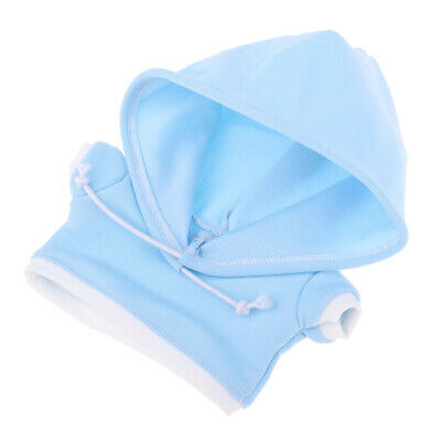 20cm Doll Clothes Hooded Hoodie Top for Bears & Puppets Changing Sky Blue