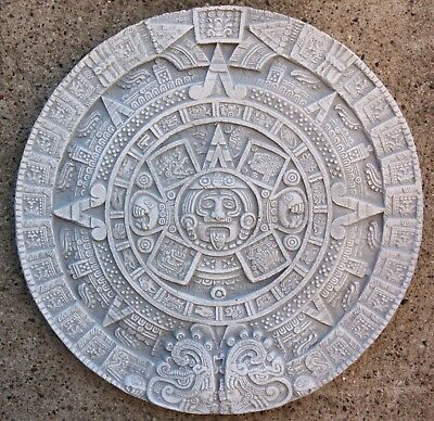 Maya Aztec Wall Calendar Cast Stone for Home Garden New Frost Resistant 2533 Aw