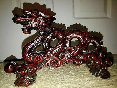 Figurine Chinese Decoration Feng Shui Dragon Statue For Luck Success Long 9 Inch