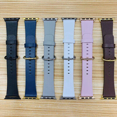 40/44mm Soft Genuine Leather iWatch Band Strap for Apple Watch 4 3 2 1 38mm 42mm