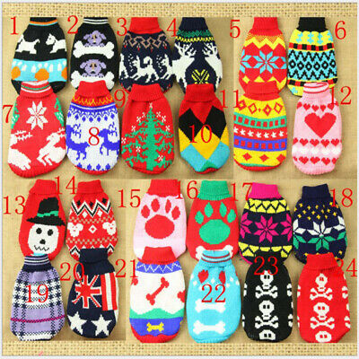 Dog Pet Puppy Cat Winter Clothes Jumper Knit Sweater Coat Warm Costume Apparel