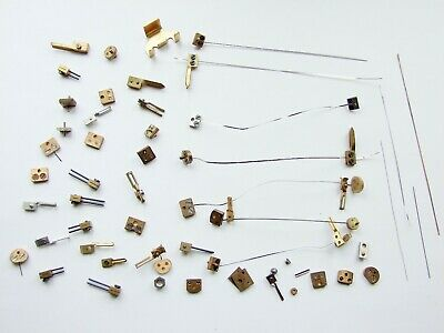 Lot of clock parts, forks, blocks & suspension springs for 400 day clocks