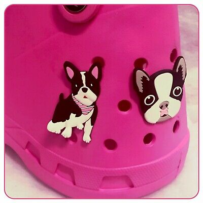 Large Pink Blue Green White Purple Croc Shaped Lubber Tote Bag + Dog & Paw Charm