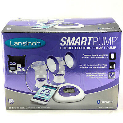 Lansinoh Smart Pump Double Electric Breast Pump with Bluetooth BT - Model 53150