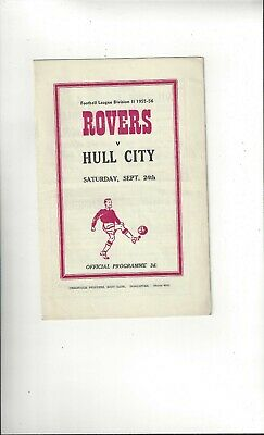 Doncaster Rovers v Hull City Football Programme 1955/56