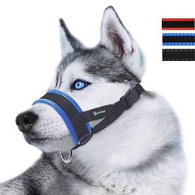 RockPet Nylon Soft Dog Muzzle for Dogs Prevent Anti Biting, Barking and Chewing,