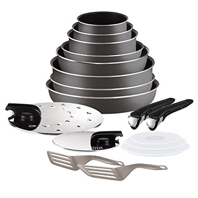 Tefal Ingenio 5 l2049002 Essential Set of 17 Charcoal All Heat Sources Except +